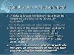 quantitation measurement