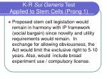 k r sui generis test applied to stem cells prong 1