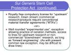 sui generis stem cell protection act continued33