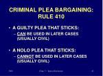 criminal plea bargaining rule 410