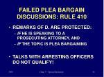 failed plea bargain discussions rule 410