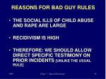 reasons for bad guy rules