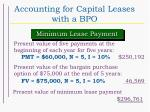 accounting for capital leases with a bpo38