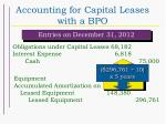 accounting for capital leases with a bpo39