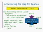 accounting for capital leases35