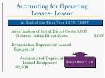 accounting for operating leases lessor45