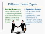 different lease types