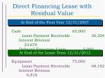 direct financing lease with residual value