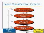 lease classification criteria20