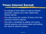 times interest earned