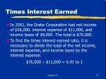 times interest earned57