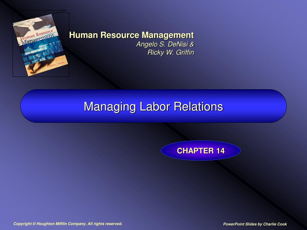 managing labor relations l.