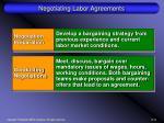 negotiating labor agreements