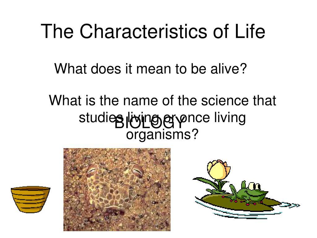 the characteristics of life l.