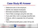 case study 3 answer