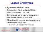 leased employees