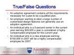 true false questions