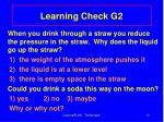 learning check g2
