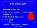unit of pressure