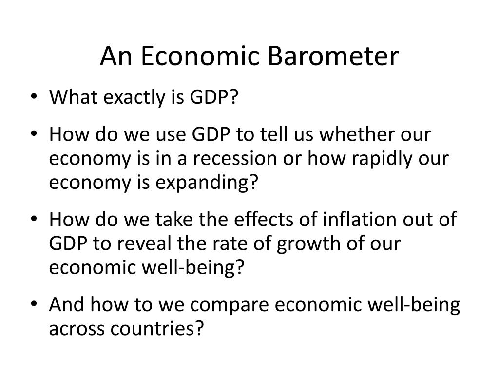 an economic barometer l.