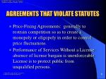 agreements that violate statutes