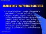 agreements that violate statutes6