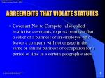 agreements that violate statutes8