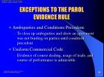 exceptions to the parol evidence rule19