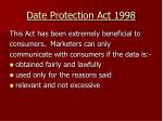 date protection act 1998