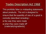 trades description act 1968