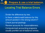 locating trial balance errors31