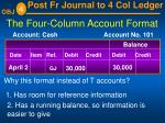 the four column account format