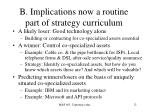 b implications now a routine part of strategy curriculum