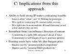 c implications from this approach