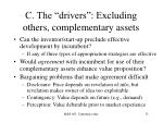 c the drivers excluding others complementary assets