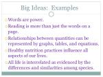 big ideas examples