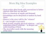 more big idea examples
