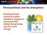 photosynthesis and the atmosphere