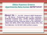 sikka kaamna greens apartments flats homes 92787141412