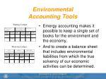 environmental accounting tools
