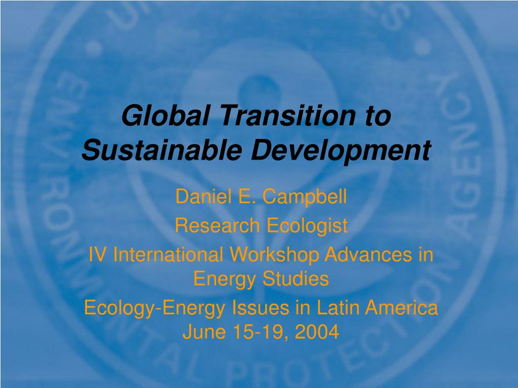 global transition to sustainable development l.