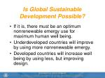 is global sustainable development possible