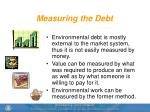 measuring the debt