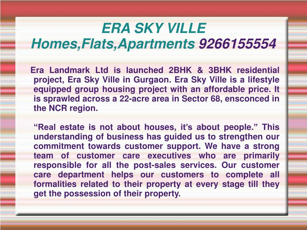 era sky ville homes flats apartments 9266155554 l.