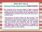 era sky ville homes flats apartments 9266155554