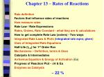 chapter 13 rates of reactions