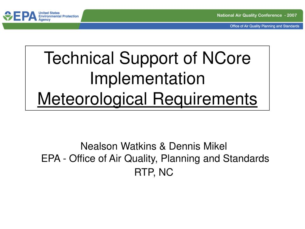 nealson watkins dennis mikel epa office of air quality planning and standards rtp nc l.