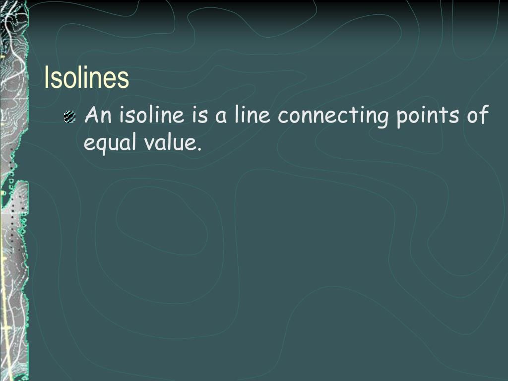 isolines l.