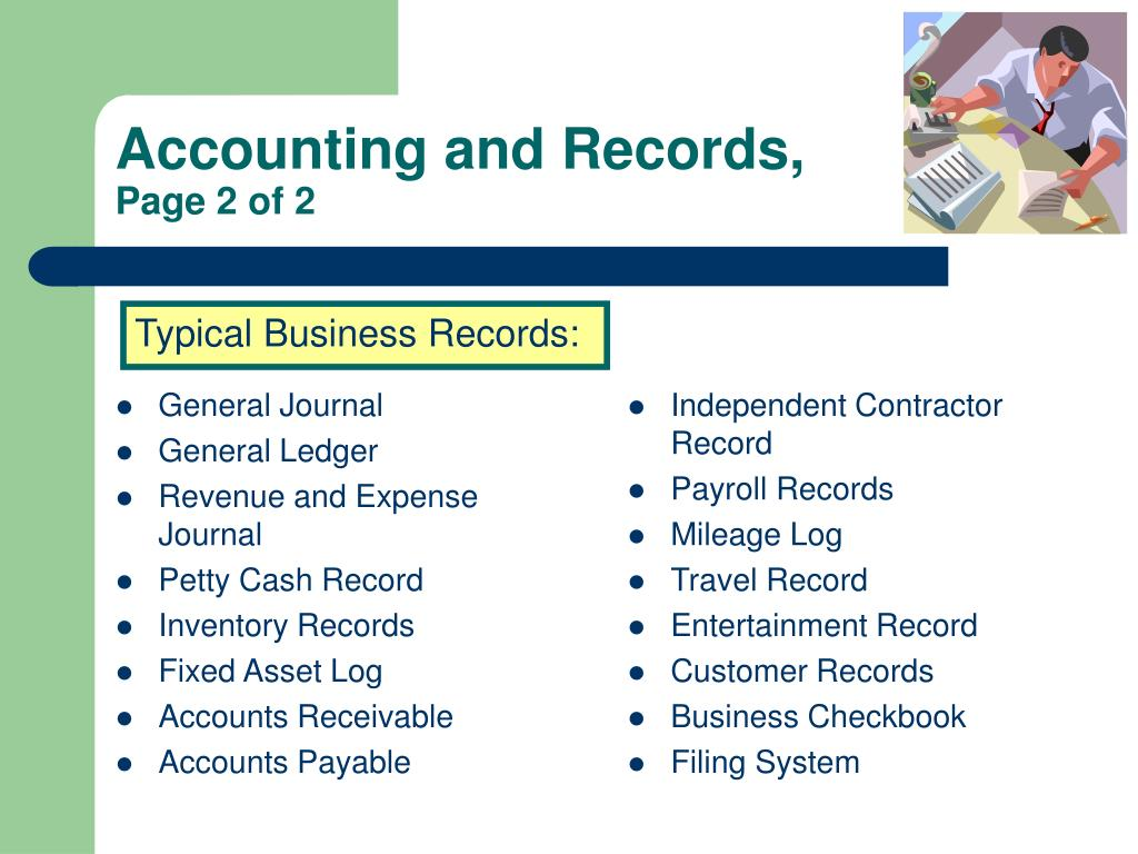 Accounting and Records,