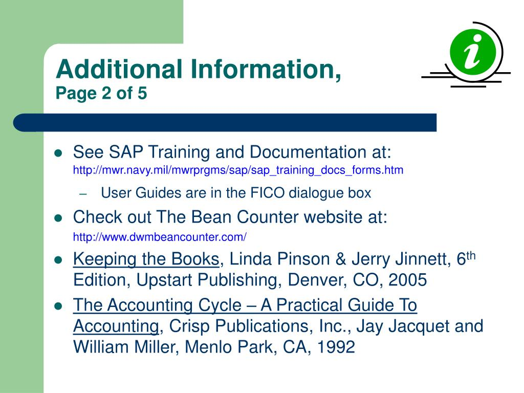 Additional Information,